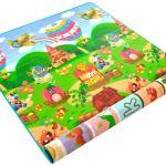 Двухсторонний Игровой Коврик «Веселая Ферма и Буквы» 180х120×1 см