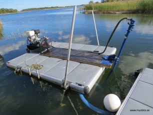 Dredging with hydraulic driven pump
