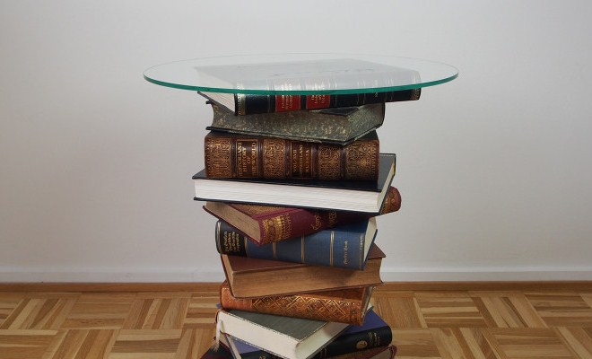 DIY Side Table Made From Old Books Tutorial