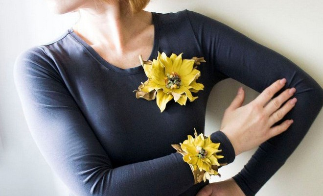 DIY Summer Ideas How To Make Leather Flower Accessories