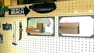 有孔ボードに作ったブリキボード収納