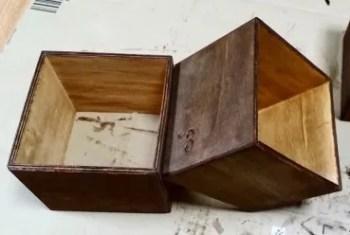 塗装した100均の木箱