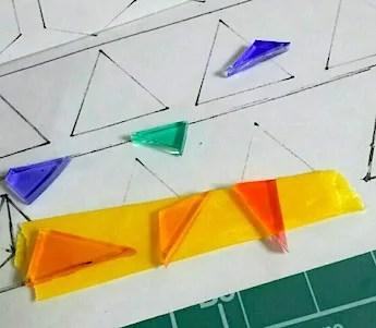 三角形のプラバン