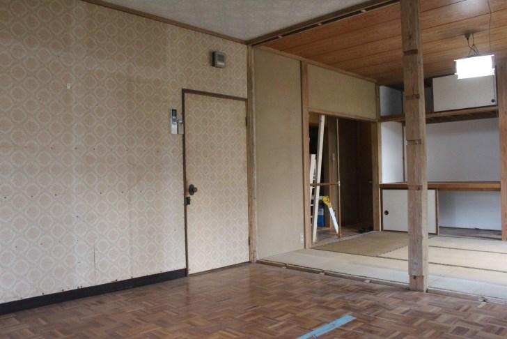 壁を壊してスッキリした部屋