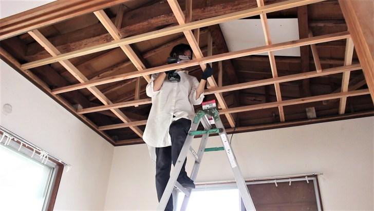 天井の仕組みを理解できれば骨組みはDIYで作れる