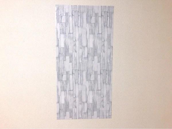 ダイソーの筒状のリメイクシート 細レンガを壁に貼ってみた