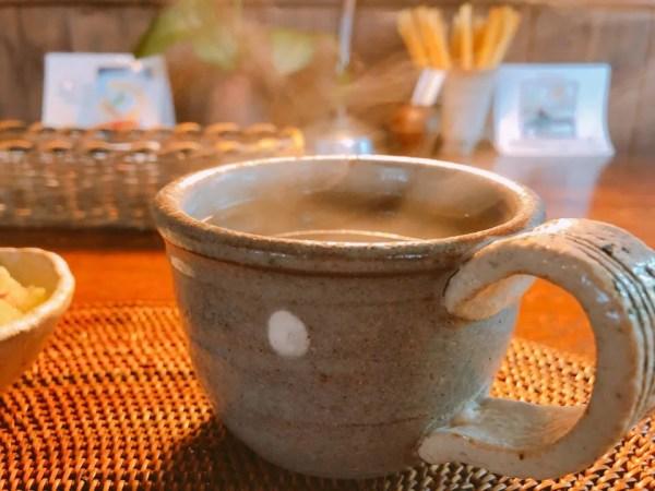 カフェ・ド・ジーノのクリーミドリアについてきたミニスープ