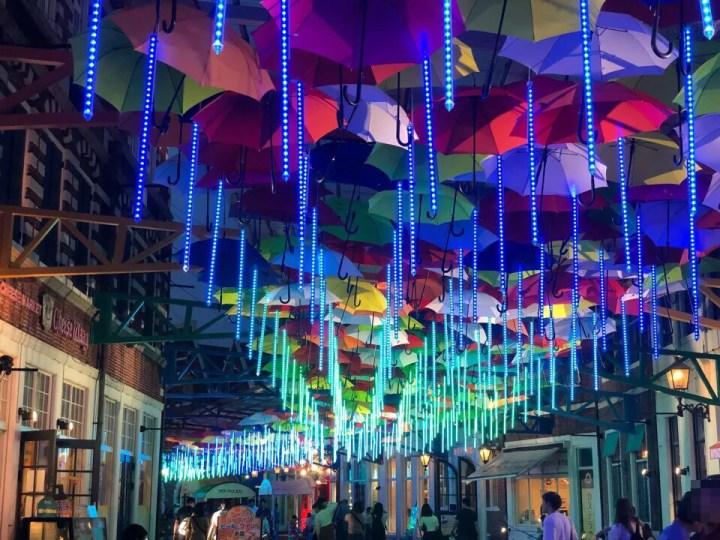 ハウステンボス光の王国2018の光のアンブレラストリート