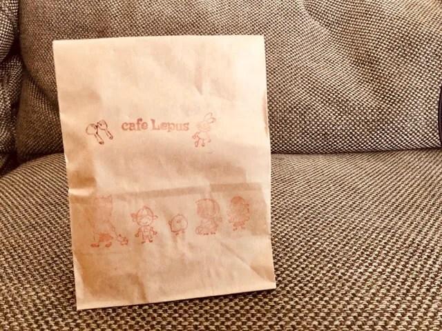 cafe Lepusでお会計の時にプレゼントをいただいた