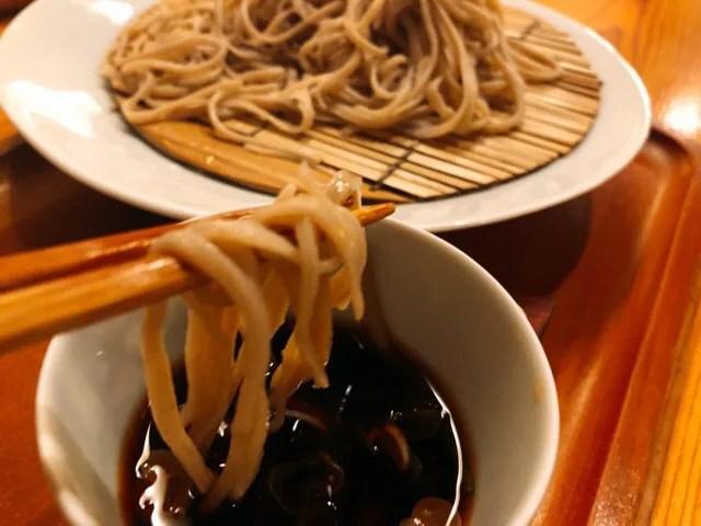 蕎家の手打ち長野産信州二八蕎麦をいただきます
