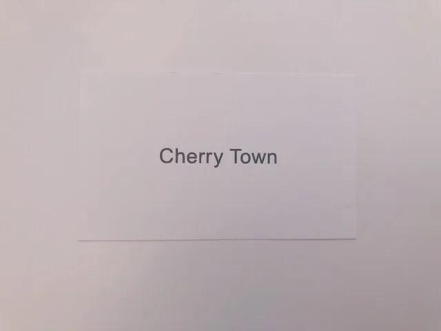 Cheery  Townのショップカード
