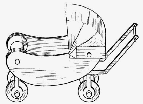 Antique stroller carriage DIY