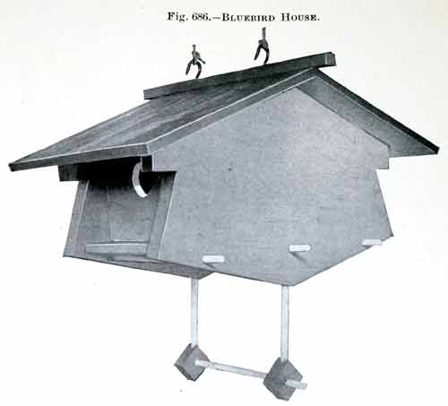 Bluebird birdhouse woodworking plans