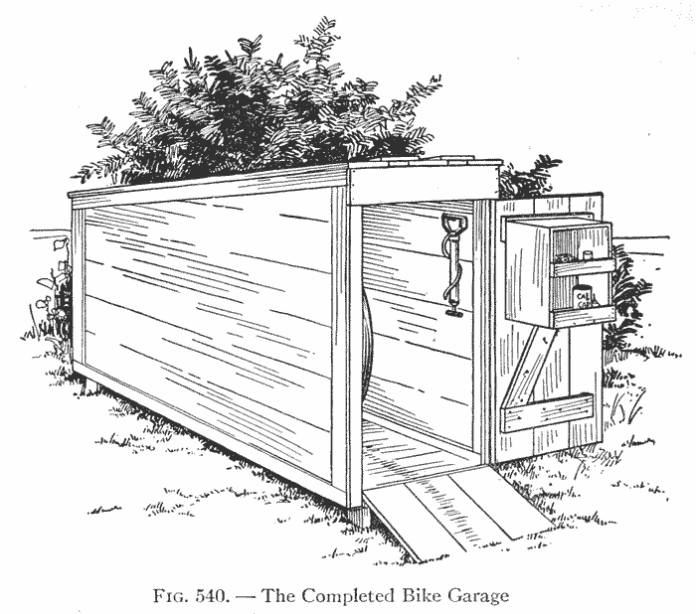 Wooden bike shed plans - Make a shelter for your bicycle
