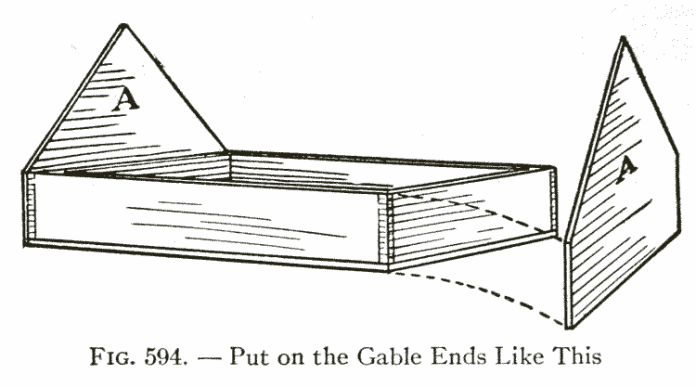 Fig. 594. — Put on the Gable Ends Like This
