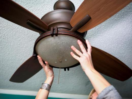 How to Replace a Light Fixture With a Ceiling Fan   how tos   DIY Ultimate How To Orginal Ceiling Fan attach globe s4x3
