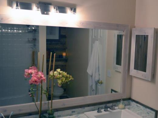 How to Replace a Bathroom Light Fixture   how tos   DIY CI Dylan Eastman bathroom mirror frame h