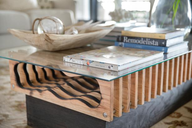 diy hollowed wood coffee table how