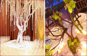 manzanita wedding tree centerpieces crystal tree orchid tree