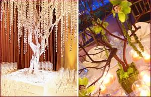 manzanita wedding tree centerpieces crystal tree orchid tree