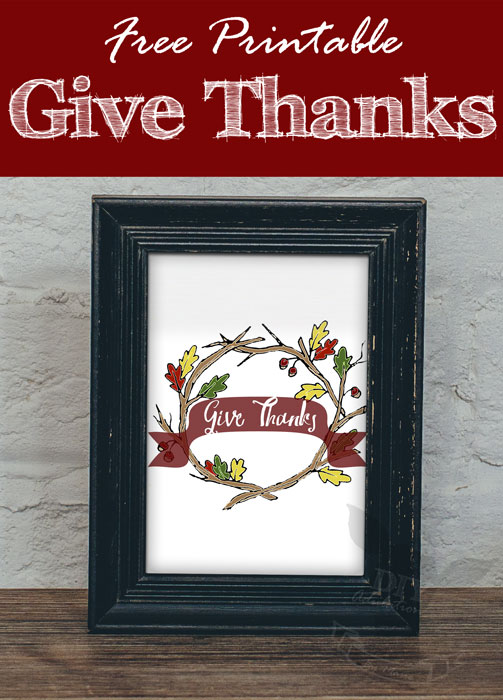 Free Printable Give Thanks Artwork