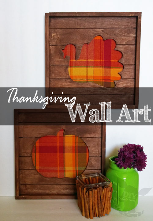 Plaid Thanksgiving Pallet Wall Art