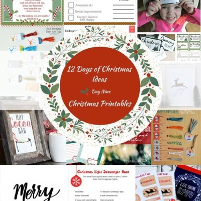 12 Days of Christmas Ideas – Christmas Printables