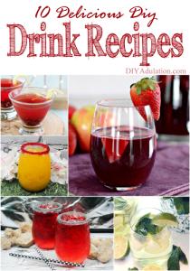 10 Delicious DIY Drink Recipes + Merry Monday Link Party 143