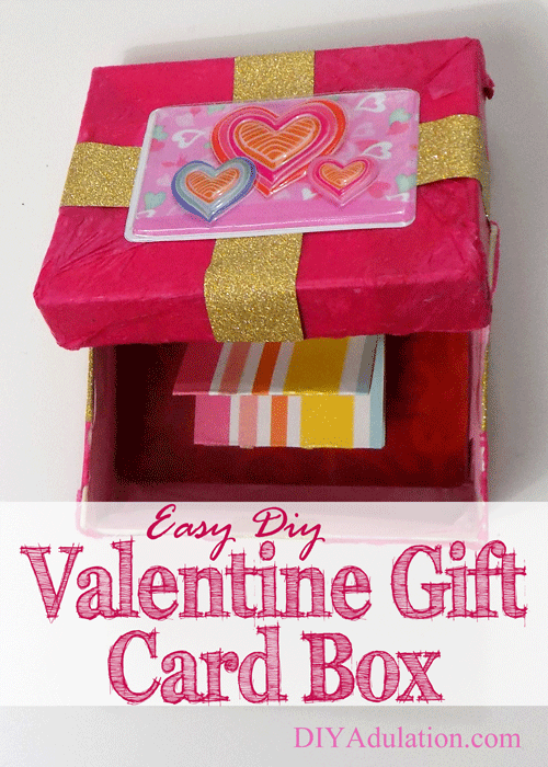 Easy Diy Valentine Gift Card Box An Easy Way To Dress Up Your Gift