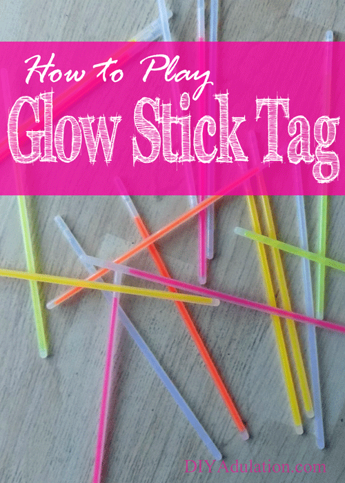 Looking for a quick and easy game for your next party or family night? Find out how to play glow stick tag and snag a free printable of the rules!