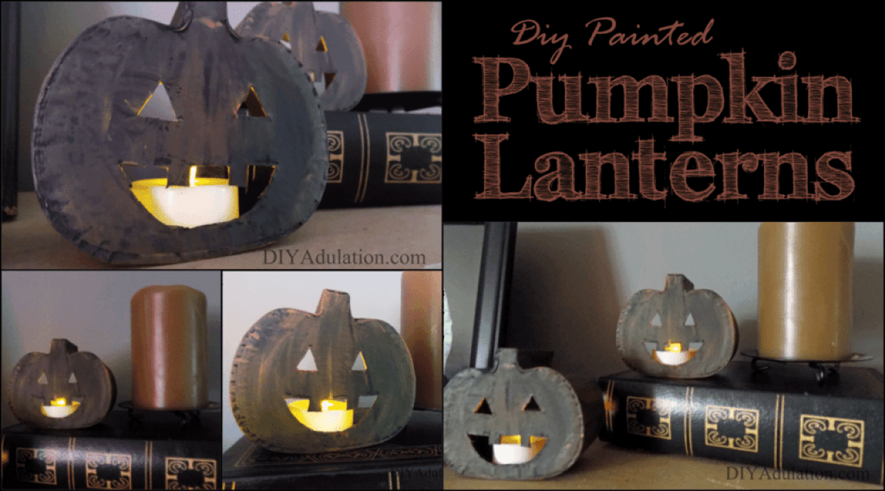 These easy DIY mini pumpkin lanterns are the perfect little addition to your fall mantle or bookshelves this season. Find out how to make them now!
