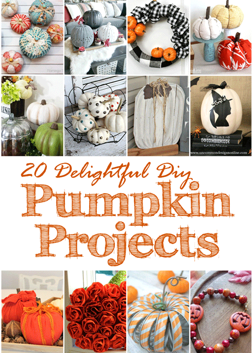 Do you have a case of pumpkin fever this season? You can get your pumpkin fix with these 20 delightful DIY pumpkin projects for fall!
