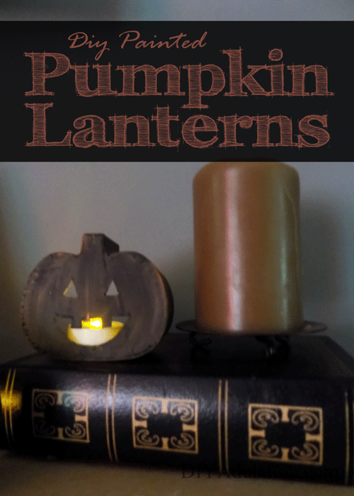 DIY Mini Pumpkin Lanterns :: Easy Fall Decor Idea