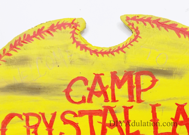 Friday the 13th is an iconic, cult horror film! Pay homage to this classic film by making this DIY Camp Crystal Lake sign for Halloween!