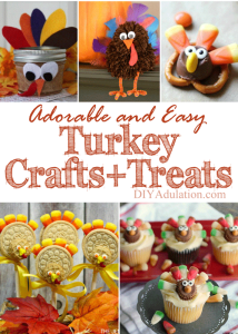 Adorable and Easy Turkey Crafts and Treats + MM 179