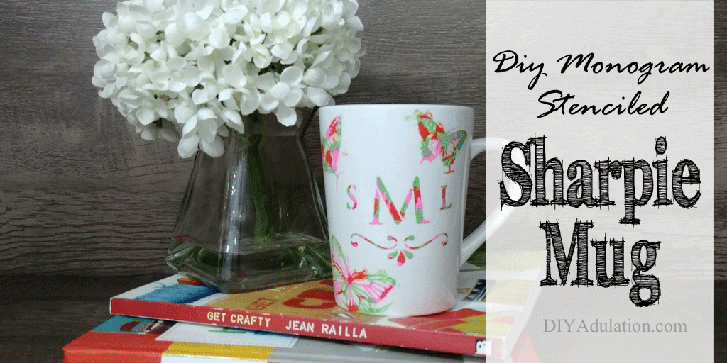 Find out how to make this DIY monogram stenciled Sharpie mug. It is seriously easy and can be customized to your style. Then check out the rest of the Pinterest Challenge Blog Hop!