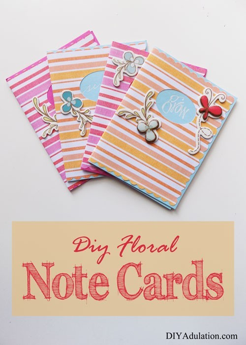 DIY Floral Note Cards | Fun and Colorful Papercraft
