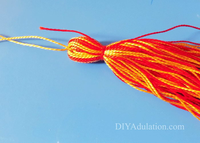 Red and Yellow Tassel