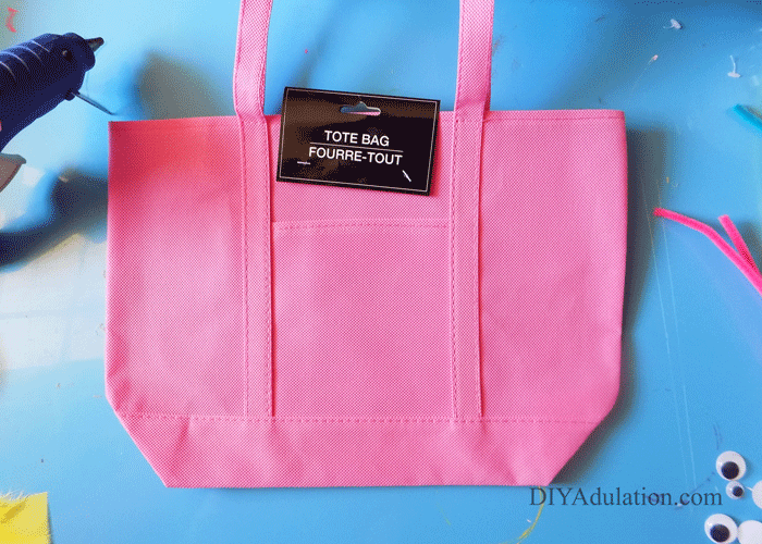 Pink Tote Bag with Tags