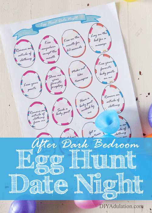 After Dark Bedroom Egg Hunt Date Night