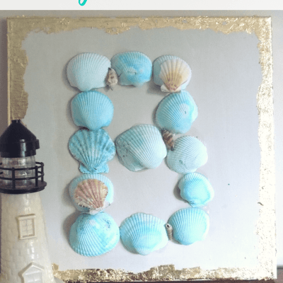 DIY Seashells Monogram Wall Art | July Pinterest Challenge