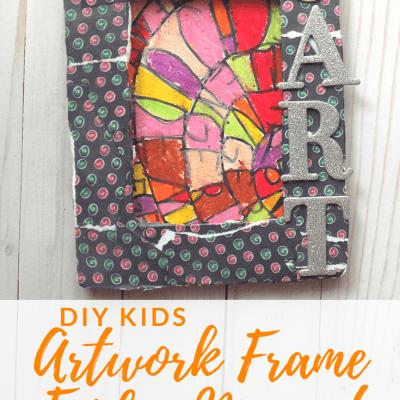 DIY Kids Artwork Frame Fridge Magnet | Kids Korner by Jude