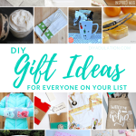 Collage of Crafts with text overlay - DIY Gift Ideas for Everyone on Your List