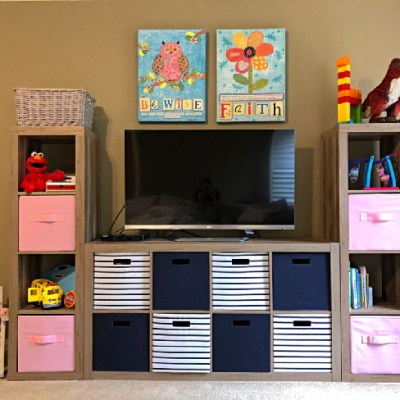 The BEST Media Console for Your Playroom