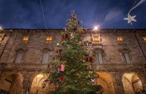 L'albero di Natale Bosch ad Ascoli Piceno