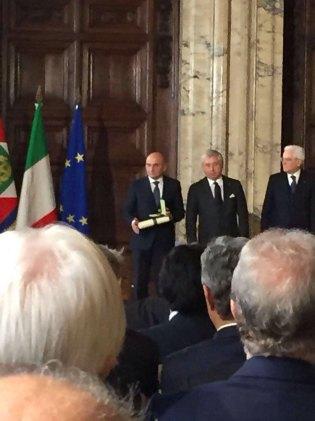 Fabrizio Bernini, Presidente della Zucchetti Centro Sistemi SpA riceve il titolo di Cavaliere del Lavoro