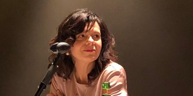 Un momento della conferenza stampa: Valeria Randazzo, Exhibition Manager di Myplant&Garden