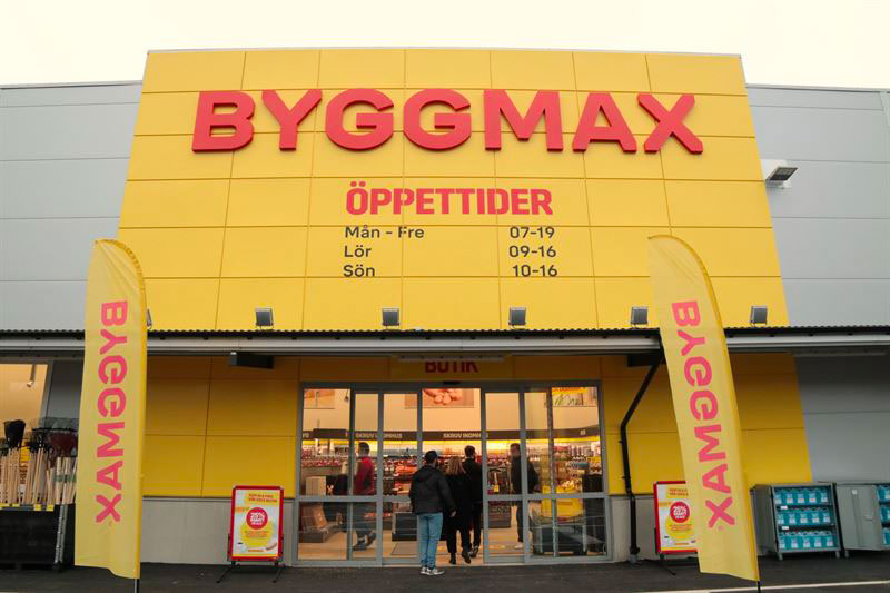 Byggmax, prima insegna svedese per numero punti vendita (2017)