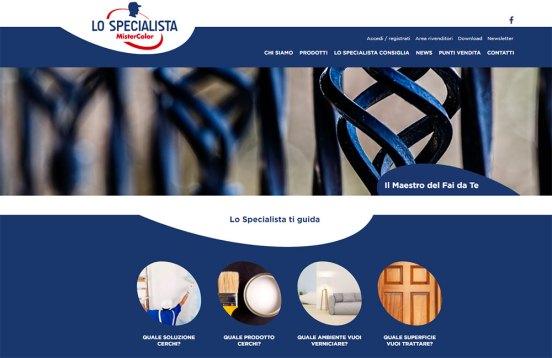 Il sito de Lo Specialista di MisterColor