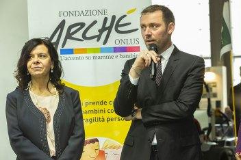 L'organizzatrice Valeria Randazzo di VG Crea e Gianpierto D'Adda, presidente del Consorzio Myplant & Garden